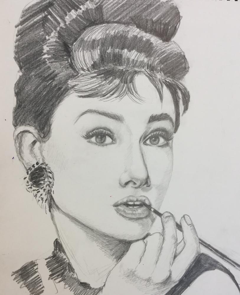 Audrey Hepburn by Linnette555